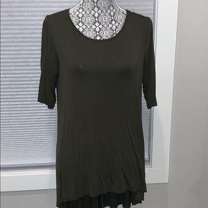 CJLA High low T Shirt Olive Green